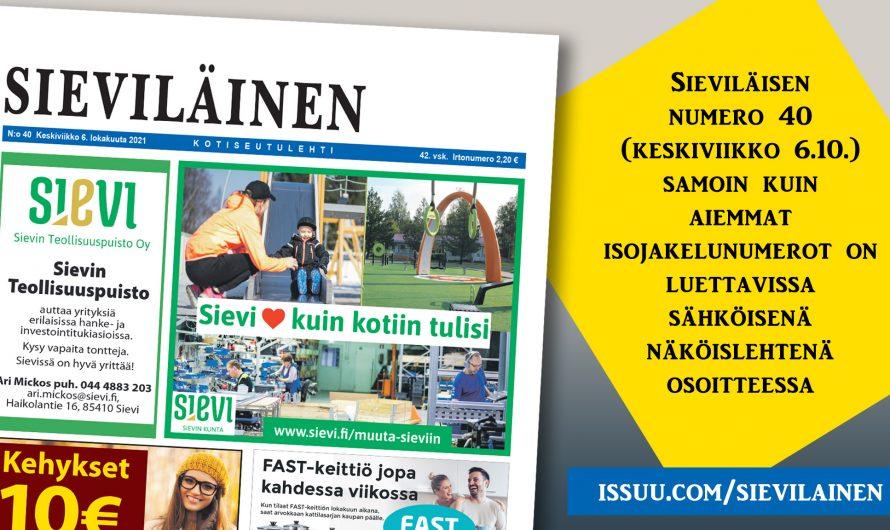 Lue uusin Sieviläinen!